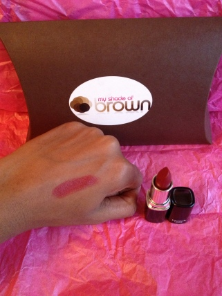 Nabi Cosmetics Lipstick in Red swatched.