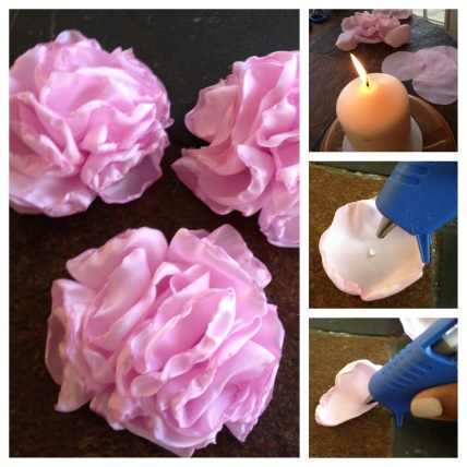 The process of creating the flowers.
