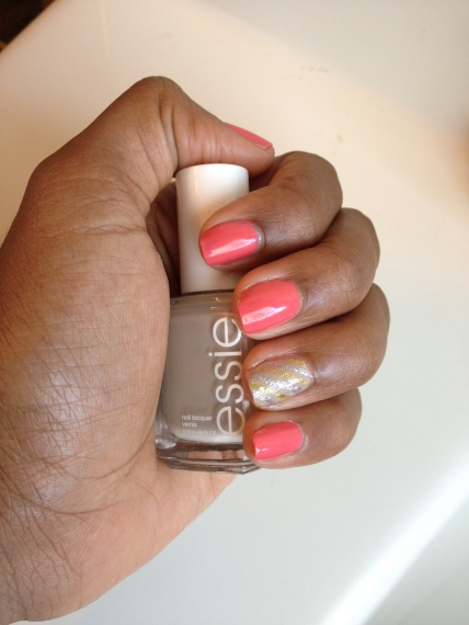 My fav nude polish...Sand Topaz by Essie.