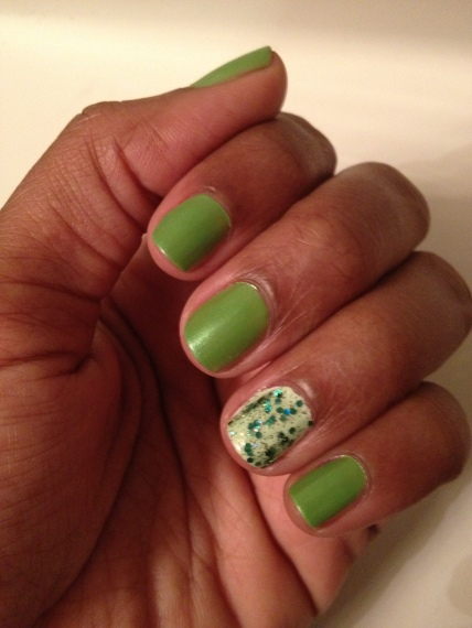 My St. Patrick's Day Mani