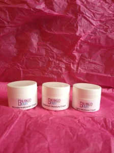 From left to right: Microdermabrasion Cream, Replenish Moisture Cream and Light Moisture Cream