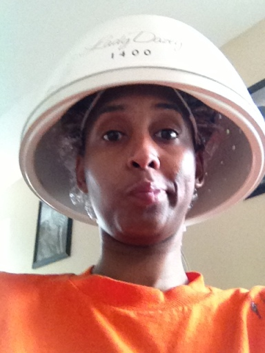 35 minutes under the dryer