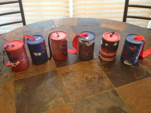 The finished cans.