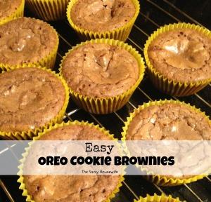 Easy Oreo Cookie Brownies