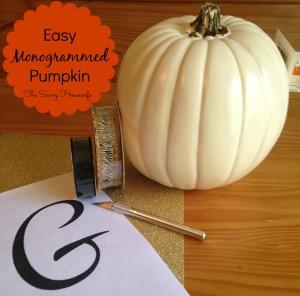 Easy Monogrammed Pumpkin